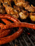 Sausages grill Stock Photo