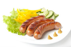 Sausages on the grill. Very vskusnye sausages on the grill Stock Images