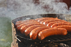 Sausages on grill -bbq Royalty Free Stock Photography