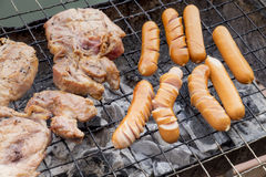 Sausages grill BBQ Stock Photos