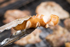Sausages  on the grill BBQ Royalty Free Stock Photos