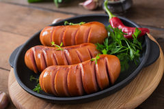 Sausages on the grill. Stock Image