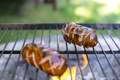 Sausages on the grill Royalty Free Stock Photography