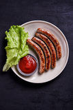 Sausages grille royalty free stock image