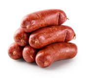 Sausages for grilling meat. Isolated on white background Stock Photo