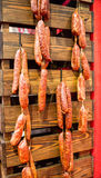 Sausages: Hanging Out Stock Images
