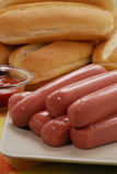 Sausages for Hotdog. Stock Image