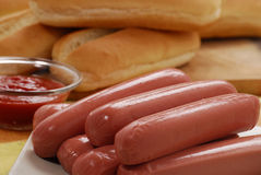 Sausages for Hotdog. Royalty Free Stock Photography