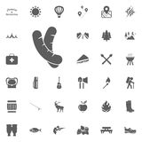 Sausages icon. Camping and outdoor recreation icons set.  Stock Photography