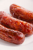 Sausages and ingredients. Royalty Free Stock Photography