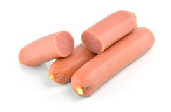 Sausages isolated on a white background Stock Photo
