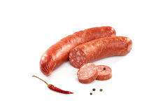 Sausages isolated on white Stock Image