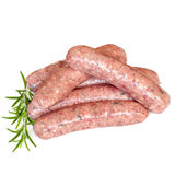 Sausages Isolated on White Stock Photography