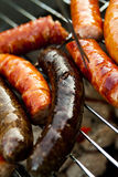 Sausages on a lattice Royalty Free Stock Image