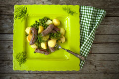 Sausages With Legumes Royalty Free Stock Image