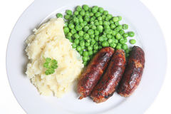 Sausages & Mash Stock Image