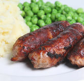 Sausages and Mash Royalty Free Stock Image