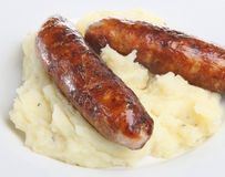 Sausages & Mash Royalty Free Stock Photography