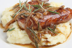 Sausages, Mash and Gravy Royalty Free Stock Photo