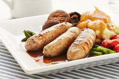 Sausages and Mash Stock Photo