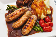 Sausages and Mash Stock Photos