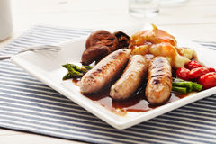 Sausages and Mash Stock Images