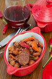 Sausages with meat and beans Stock Photography