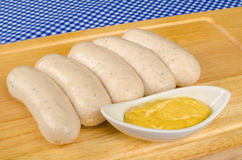 Sausages with mustard, traditional food Royalty Free Stock Photo
