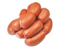 Sausages in natural casing Royalty Free Stock Photos