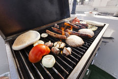 Urban Rofftop Grillin' Royalty Free Stock Photography