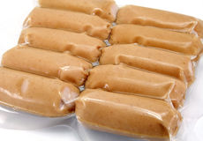 Sausages pack Stock Photo