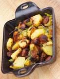 Sausages and Potato Stew Stock Images