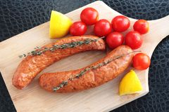Sausages ready to cook Stock Image