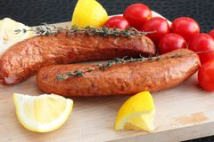 Sausages ready to cook Royalty Free Stock Photo