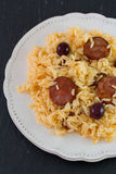 Sausages with rice Royalty Free Stock Image