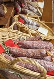 Sausages salami Royalty Free Stock Photos