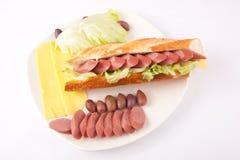 Sausages sandwich Stock Photo