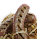 Sausages With Sauerkraut Royalty Free Stock Photo