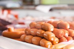 Sausages Served on Plate Royalty Free Stock Photo