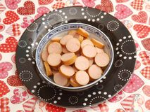 Sausages. Some fresh sausages of pork meat Stock Photography