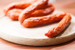Sausages stack Royalty Free Stock Image