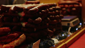 Sausages Stack for Sale stock video