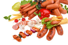 Sausages still life concept Stock Photo