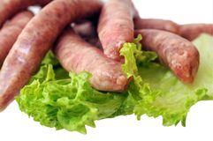 Sausages and vegetable Royalty Free Stock Photos