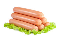 Sausages isolated Stock Image