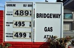 高汽油价格 免版税库存图片