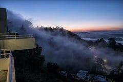 Sausalito雾 库存照片