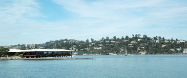 Sausalito. A view of Sausalito California over highlands royalty free stock photo