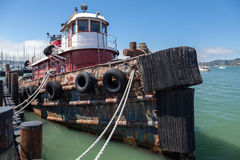 SAUSALITO, CALIFORNIA/USA - AUGUST 6 : Old tugboat moored at the Stock Image