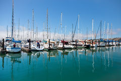 SAUSALITO, CALIFORNIA/USA - SIERPIEŃ 6: Widok marina w S Zdjęcie Royalty Free